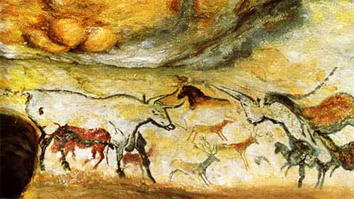 Cave paintings at Lascaux France