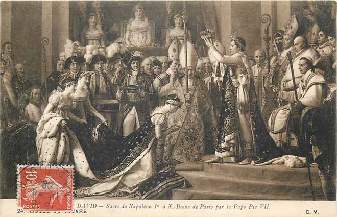 Napoleon Bonaparte consecrated by Pope Pius VII at Notre Dame