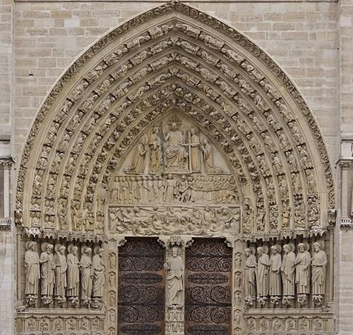 The portal of Judgement - Notre Dame de Paris