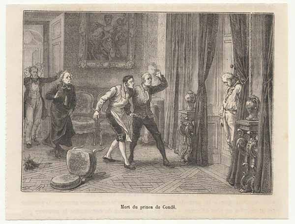 Death of the Prince of Condé