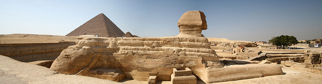 Side view of the Sphinx of Giza