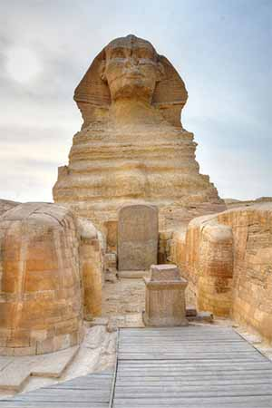 Front view of the Sphinx of Giza